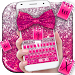 Download Pink Glitter Bow Keyboard Theme 10001009 APK