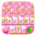 Download Pink Gold GO Keyboard Theme 4.5 APK