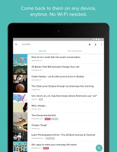 screenshot of Pocket version 6.3.6.2