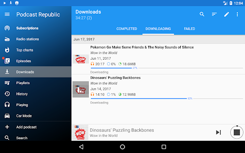 screenshot of Podcast Republic - Podcast & Audiobook App version Varies with device