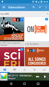 screenshot of Podcast Republic version 2.6.7