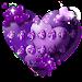 Download Purple Heart Balloon Keyboard 10001003 APK