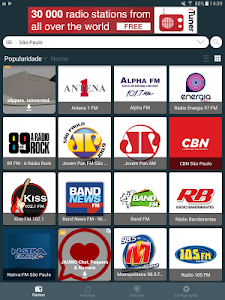 screenshot of Radio Brazil - Internet Radio, FM Radio, AM Radio version 2.2.24