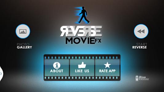 screenshot of Reverse Movie FX - magic video version 1.2.4