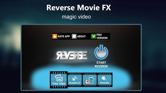 screenshot of Reverse Movie FX - magic video version 1.3.3