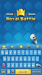 screenshot of Royal Battle Keyboard Theme version 1.6.4