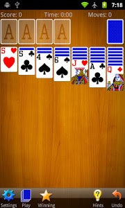 screenshot of Solitaire version 4.0.1