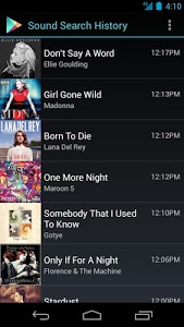 screenshot of Sound Search for Google Play version 1.1.8
