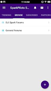 screenshot of SparkPilots - DJI Spark Drone Forum version 8.0.5