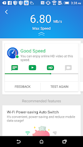 screenshot of Speed Test - WiFi / Cellular speed test version Varies with device