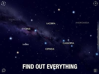 screenshot of Star Walk 2 Free - Identify Stars in the Sky Map version 2.3.4.18