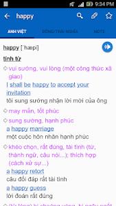 screenshot of English Vietnamese Dictionary TFlat version 6.7.8