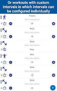 screenshot of Tabata Timer: Interval Timer Workout Timer HIIT version 3.3.2