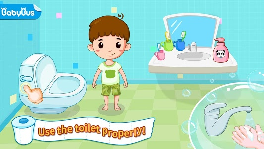 screenshot of Baby Panda's Potty Training - Toilet Time version 8.30.10.00