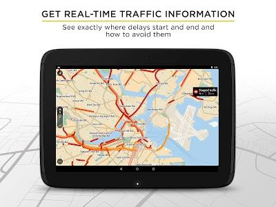 screenshot of TomTom GPS Navigation Traffic version 1.17.7