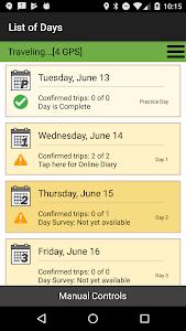 screenshot of TransLink DailyTravel version 2.4.24
