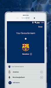 screenshot of UEFA Champions League version 1.3