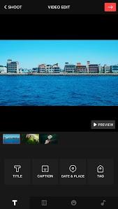 screenshot of VUE: video editor & camcorder version 2.1.5