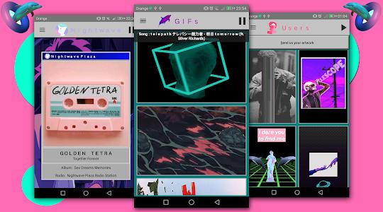 screenshot of Vaporwave Wallpapers ? ( Vaporwave Backgrounds ) version 7.2.0b