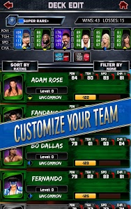 screenshot of WWE SuperCard version 2.0.0.181456