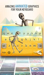 screenshot of Wave Animated Keyboard + Emoji version 1.37