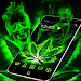 Download Weed Rasta Skull Theme 1.1.13 APK