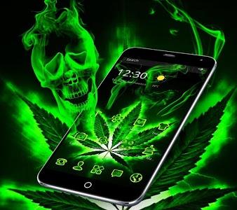Download Weed Rasta Skull Theme 1.1.13 APK