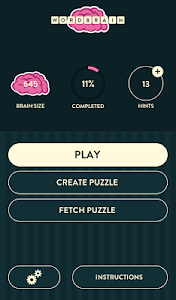 screenshot of WordBrain version 1.5.3