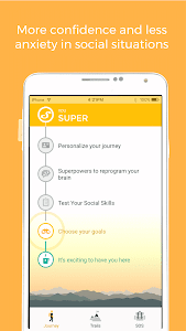 screenshot of Youper - Less Social Anxiety version 3.01.100