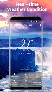 screenshot of OS Style Daily live weather forecast version 15.1.0.45510